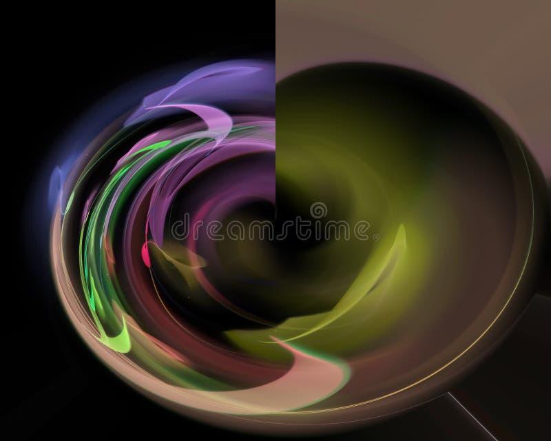 Abstract fractal creative artistic future card soft swirl wave color. Abstract fractal creative artistic, elegance, dynamic card future soft   wave color effect stock photos