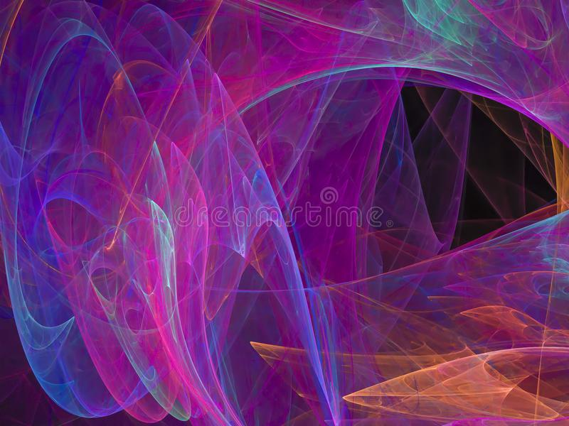 Abstract vibrant digital overlay effect design texture futuristic fractal pattern. Abstract fractal digital background vibrant futuristic connection design vector illustration