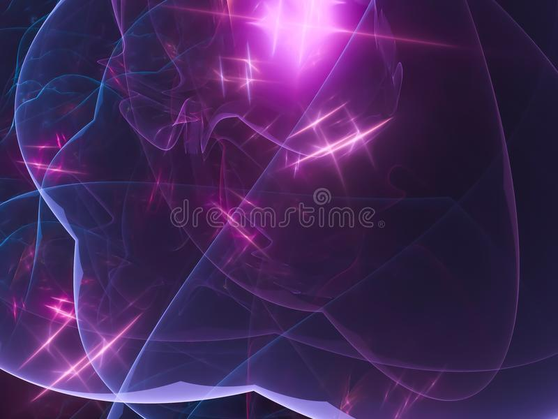 Abstract vibrant digital overlay universe design fractal pattern. Abstract fractal digital background vibrant futuristic connection design fantasy flame effect royalty free illustration