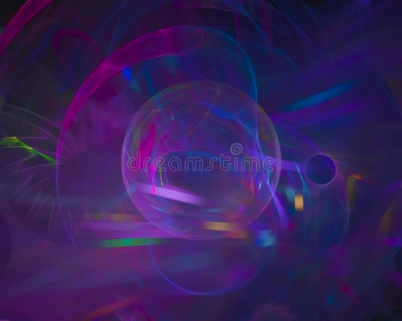 Abstract fractal digital light texture fantasy graphic energy style colorful, render, motion, explosion stock illustration