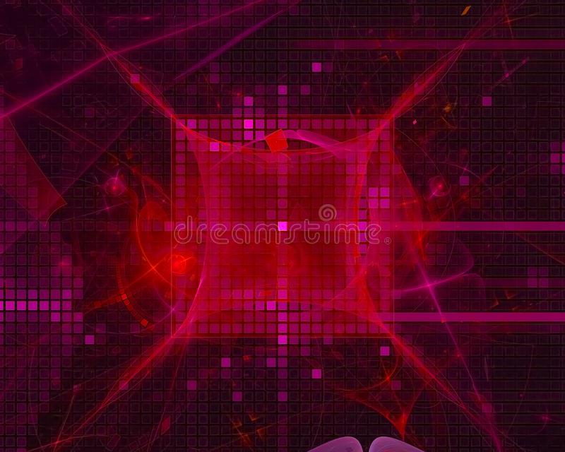Abstract fractal digital design light future backdrop shape beautiful power explosion. Abstract fractal digital design, beautiful power explosion shape color royalty free illustration