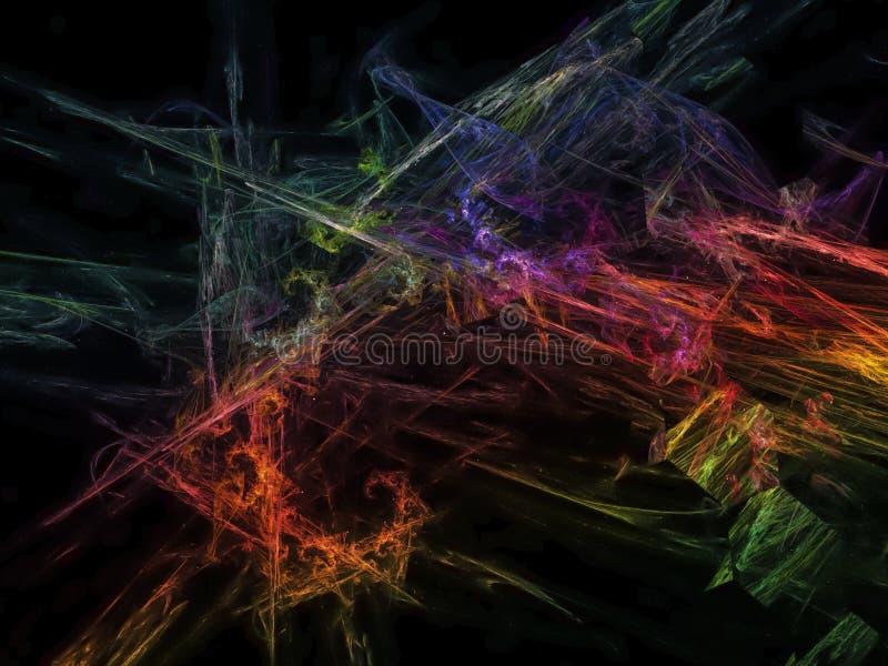 Abstract fractal digital futuristic decoration colorful surface banner fantastic presentation magic background, invitation. Abstract fractal digital futuristic stock photo
