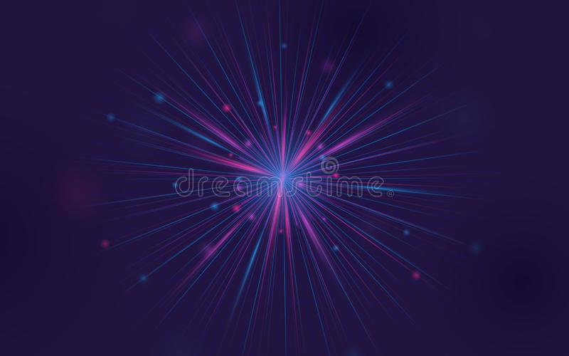 Abstract fractal element. Big data connection. Abstract background royalty free illustration