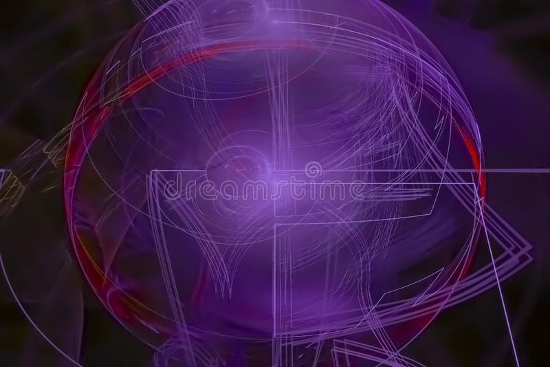 Abstract fractal energy fantasy colorful concept pattern light wallpaper creative future graphic. Abstract fractal fantasy design background creative  light royalty free illustration