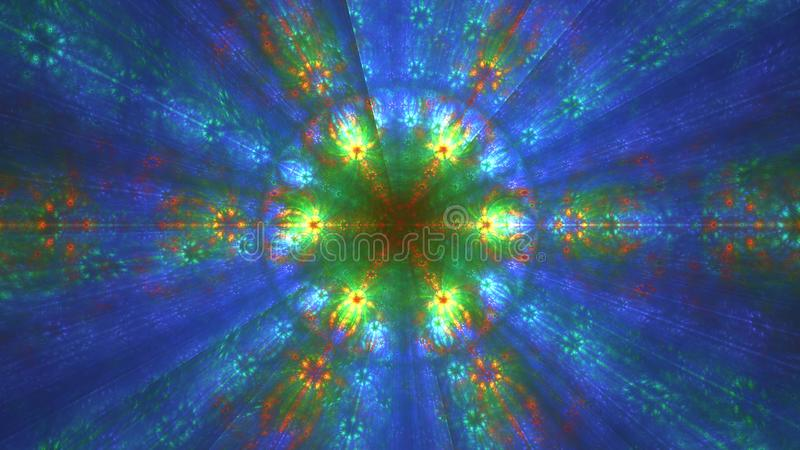 Abstract fractal fantasy background. Template for card design. stock illustration