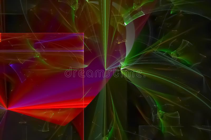 Abstract shiny texture glow banner wallpaper color shape effect design holiday background future. Abstract fractal fantasy design background         magic  color royalty free stock images