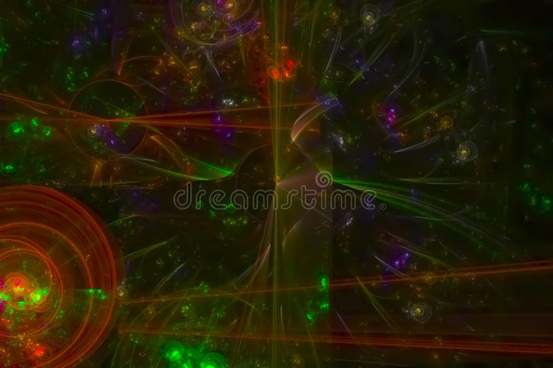 Abstract shiny pattern texture glow banner chaos color shape effect design holiday background future. Abstract fractal fantasy design background         magic royalty free stock photos