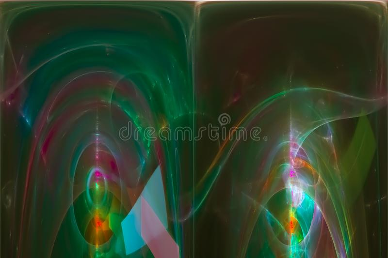 Abstract digital fractal fantasy energy chaos fantastic science flame design explosion creative glowing vector illustration