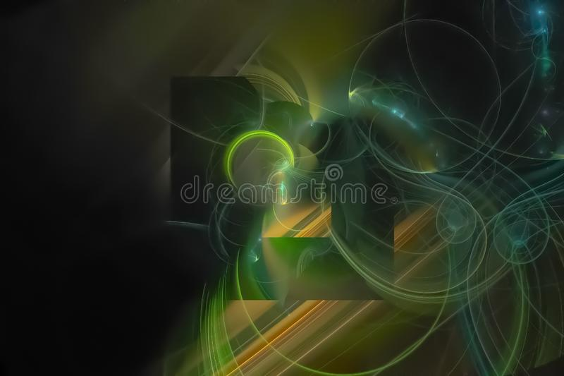 Abstract fractal fantasy dream magic decoration wallpaper vibrant imagination design background sparkle, flare, fancy. Abstract fractal fantasy design background royalty free stock photos