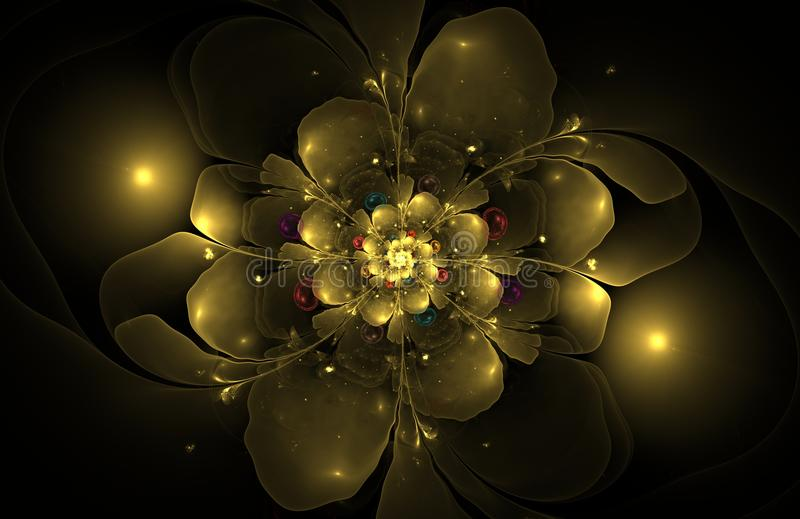 Abstract fractal flower computer generated image stock image