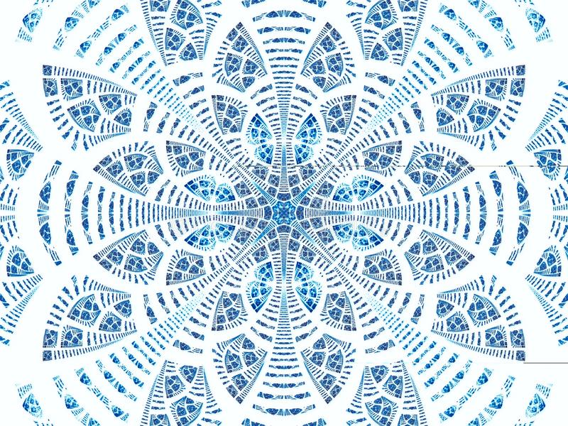 Abstract fractal flower or mandala - digitally generated image royalty free illustration