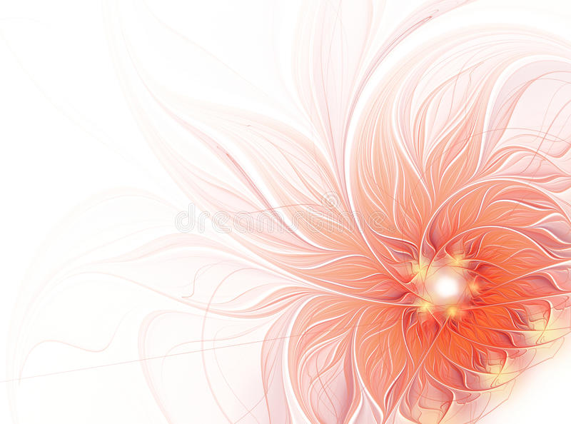 Abstract fractal flower on a white background royalty free stock image