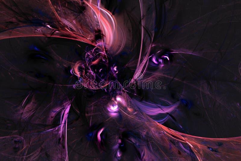 Abstract fractal geïllustreerd achtergrond teruggegeven behang royalty-vrije illustratie
