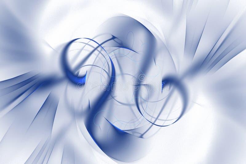 Abstract fractal geïllustreerd achtergrond teruggegeven behang stock illustratie