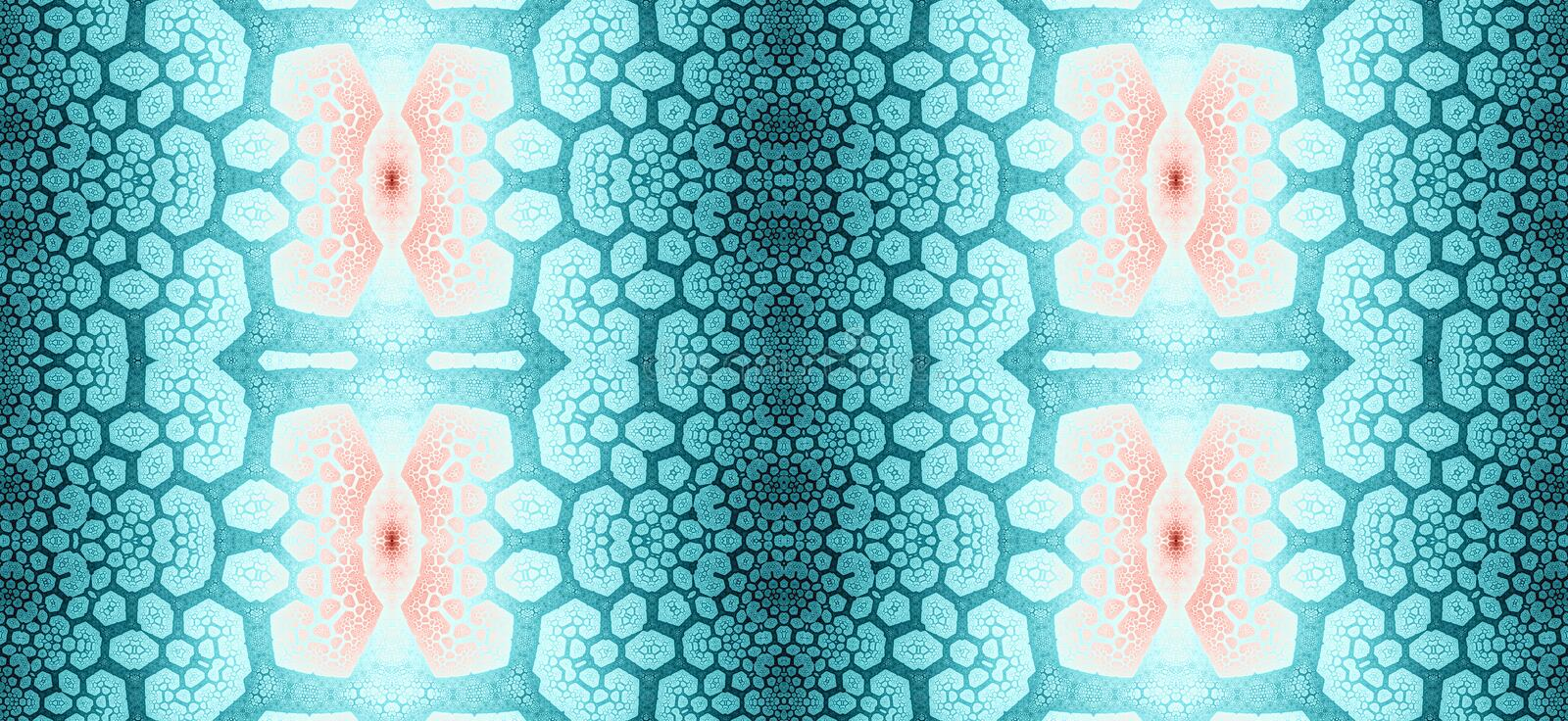 Abstract fractal high resolution seamless pattern for carpets, tapestries, fabric and wallpapers or any creative other use stock illustration