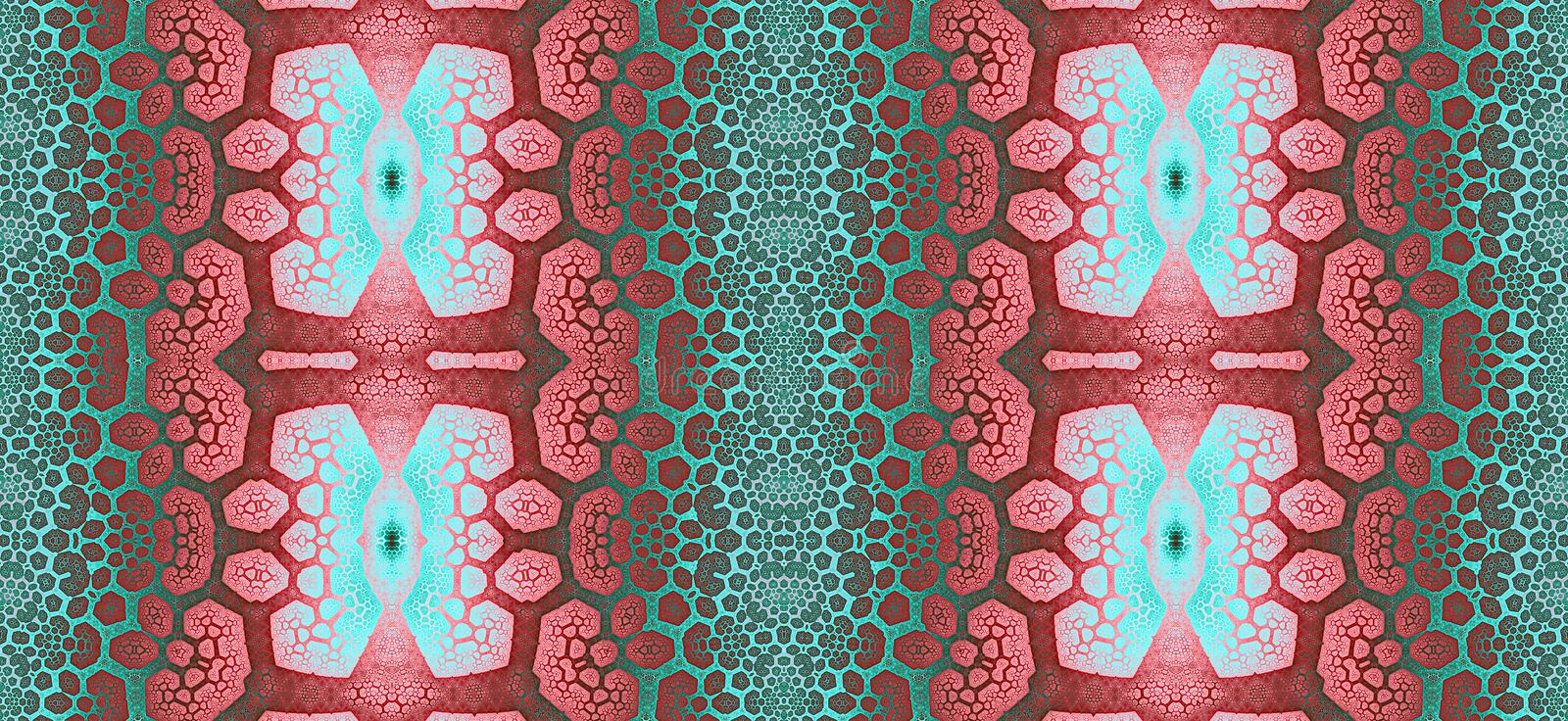 Abstract fractal high resolution seamless pattern for carpets, tapestries, fabric and wallpapers or any creative other use vector illustration
