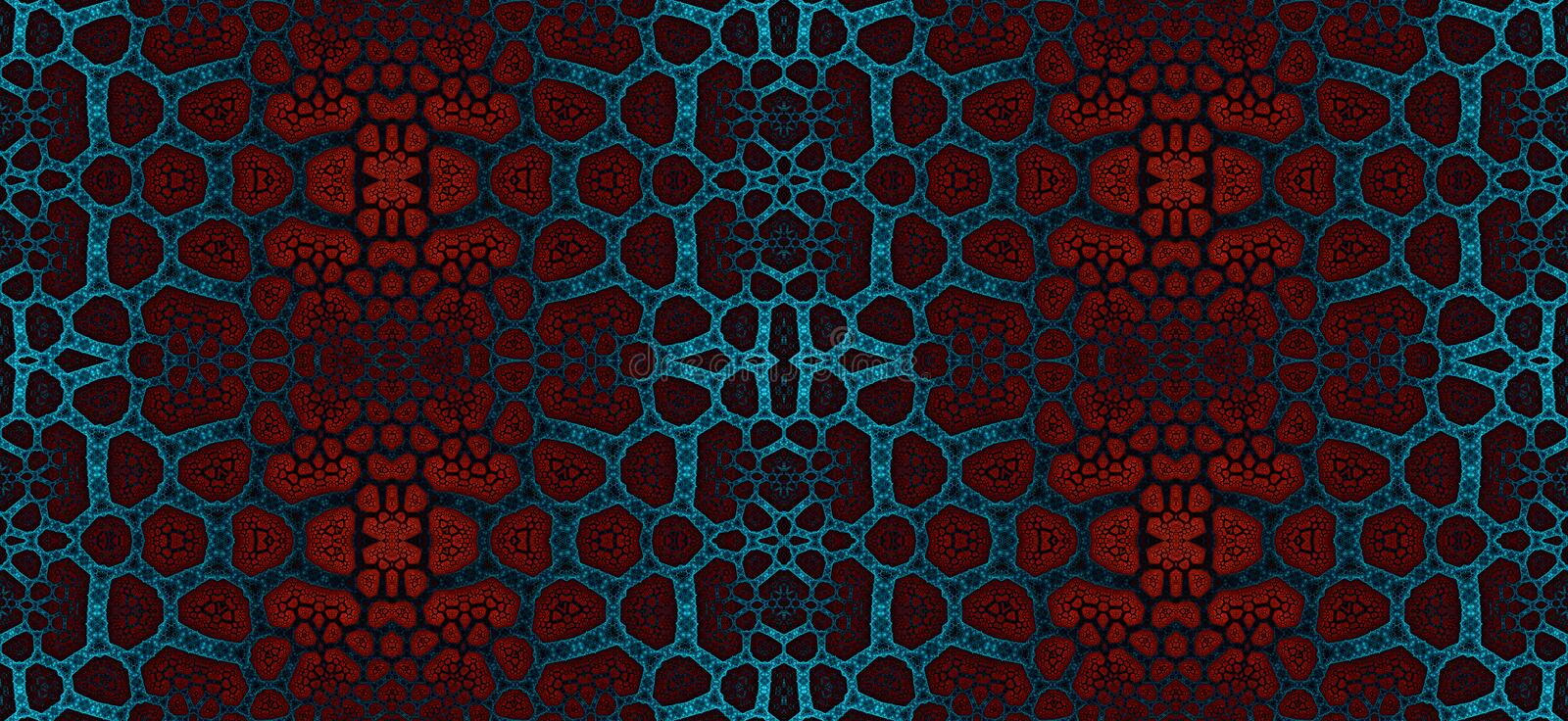 Abstract fractal high resolution seamless pattern for carpets, tapestries, fabric and wallpapers vector illustration