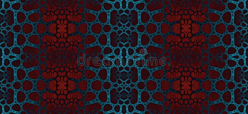 Abstract fractal hoge resolutie naadloos patroon voor tapijten, tapijtwerk, stof en behang vector illustratie