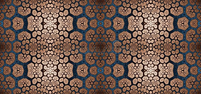 Abstract fractal hoge resolutie naadloos patroon voor tapijten, tapijtwerk, stof, en behang in het glanzen kleuren royalty-vrije illustratie