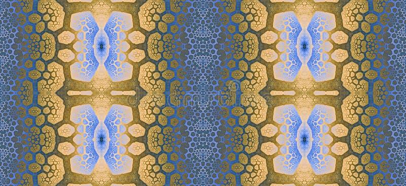 Abstract fractal hoge resolutie naadloos patroon voor tapijten, tapijtwerk, stof en behang of om het even welke creatief ander ge stock illustratie
