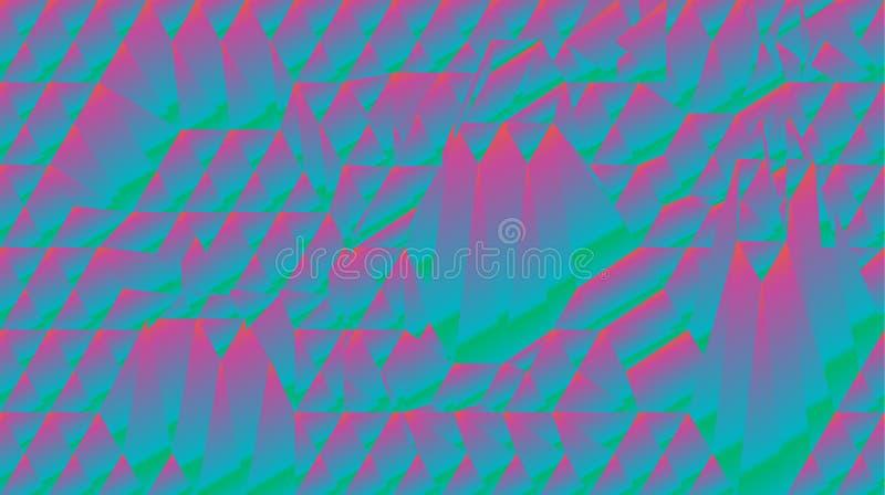 Abstract fractal holographic mountain poligonal wallpaper stock illustration