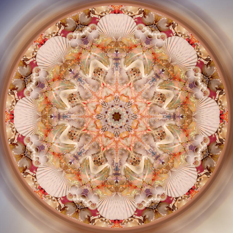 Abstract fractal mandala picture royalty free stock photo