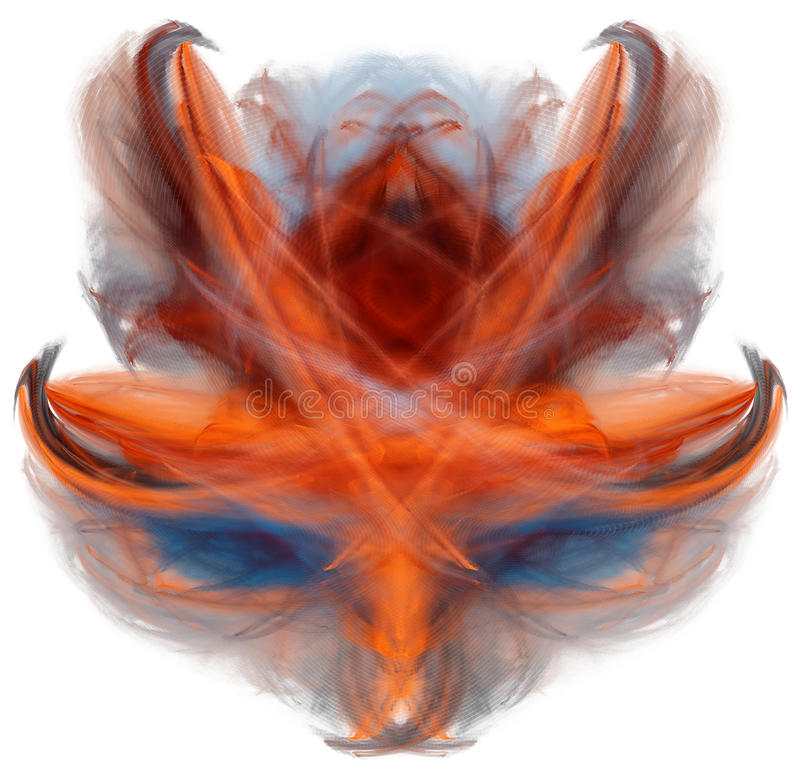 Abstract fractal mask stock illustration