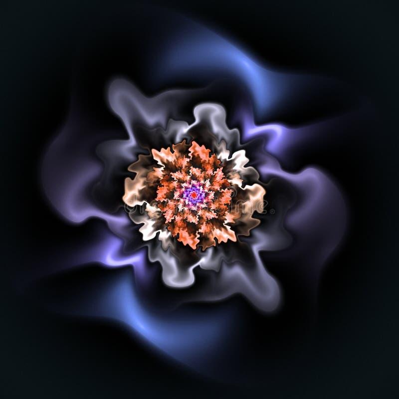 Abstract fractal mooi bloem door de computer geproduceerd beeld stock afbeelding