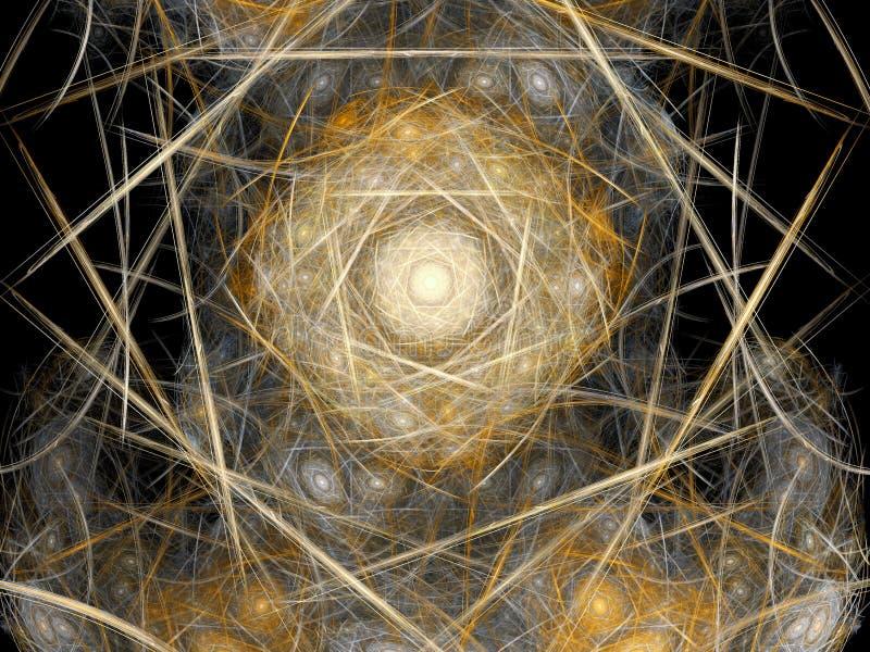 Abstract fractal nest royalty-vrije illustratie