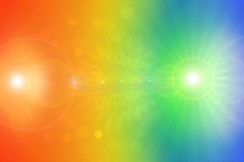 Abstract fractal orange blue  elegant background texture with colorful rays of light. Fluid turbulence and galaxy formation. royalty free stock photography