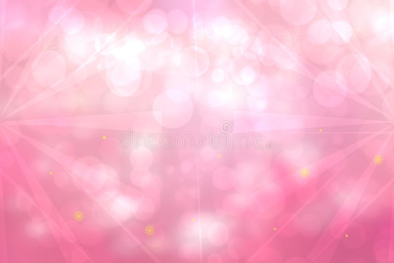 Abstract fractal pink white elegant background texture with rays and stars of light. Fluid turbulence and galaxy formation. Useful royalty free stock photos