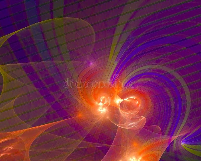 Abstract fractal render motion texture curve flame shape wallpaper banner , backdrop science backdrop. Abstract digital fractal modern surreal backdrop glow stock illustration