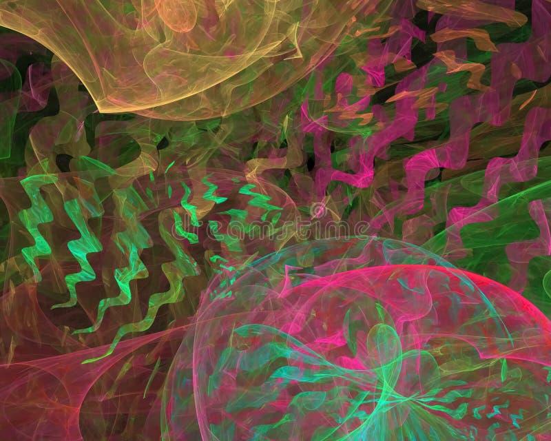 Abstract fractal render motion vibrant magic shine curve shape wallpaper banner , backdrop science backdrop. Abstract digital fractal modern surreal backdrop vector illustration