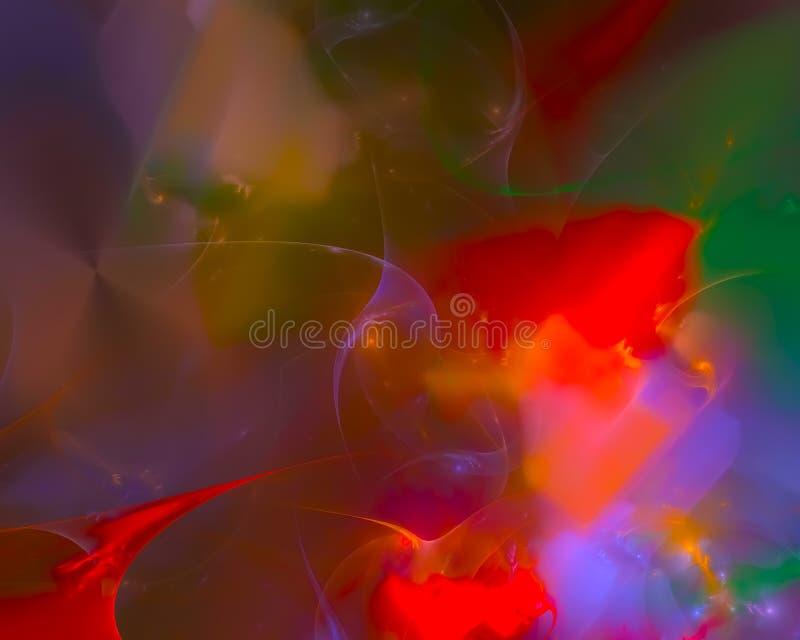 Abstract fractal render motion vibrant magic shine curve shape wallpaper banner , backdrop science backdrop. Abstract digital fractal modern surreal backdrop stock illustration