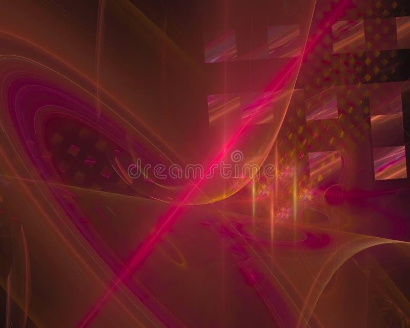 Abstract fractal render texture curve dark shape wallpaper banner , backdrop science backdrop. Abstract digital fractal modern surreal backdrop glow shape chaos royalty free illustration