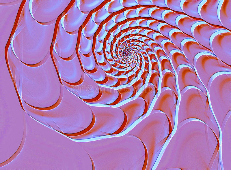 Abstract fractal shell shape. Abstract background with pink spiral conch royalty free stock photo