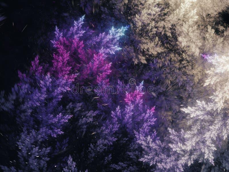 Abstract fractal sneeuwonweer stock illustratie