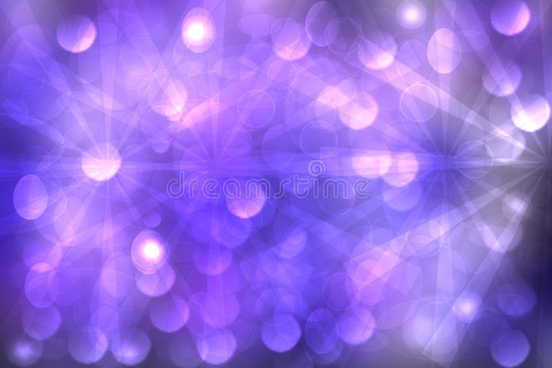 Abstract fractal violet pink elegant background texture with white rays of light. Fluid turbulence and galaxy formation. Useful royalty free illustration
