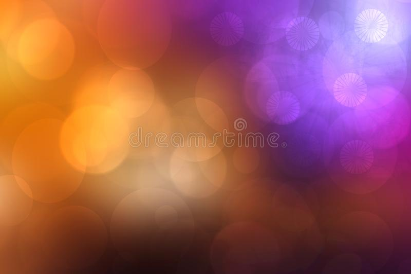 Abstract fractal violet pink gold elegant background texture with bokeh lights. Fluid turbulence and galaxy formation. Useful for royalty free stock image