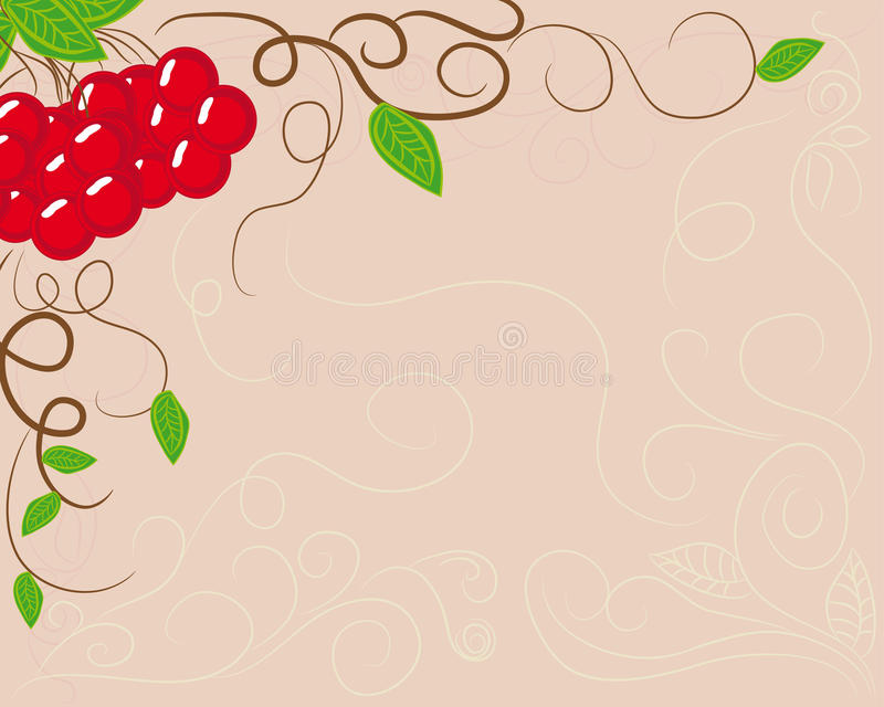 Download Abstract Frame With Berries Stock Illustration - Image: 24379809