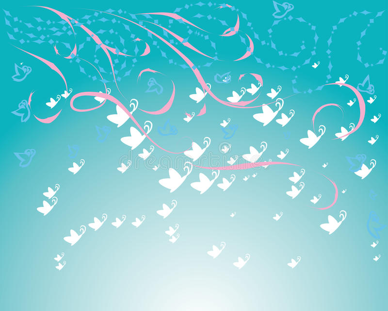 Download Abstract Frame With Butterflies Stock Vector - Image: 25804981