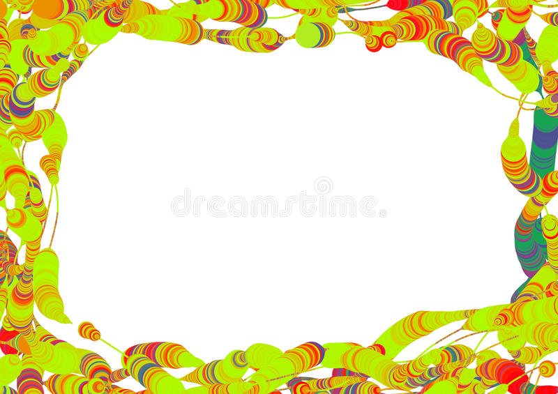 Abstract frame of colorful circles stock photos