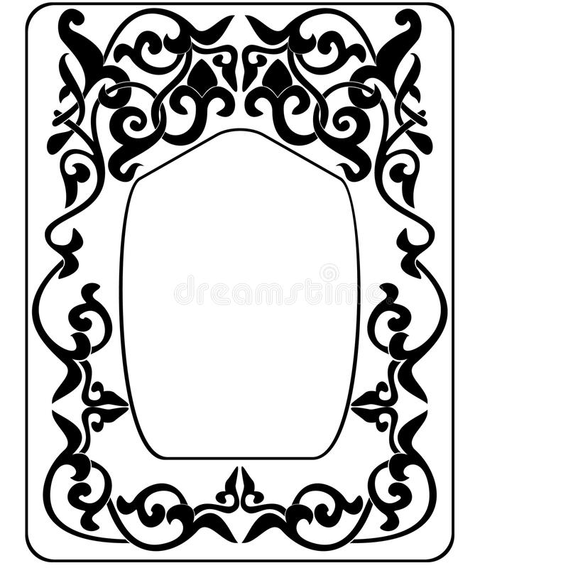 Abstract frame graphic vector illustration