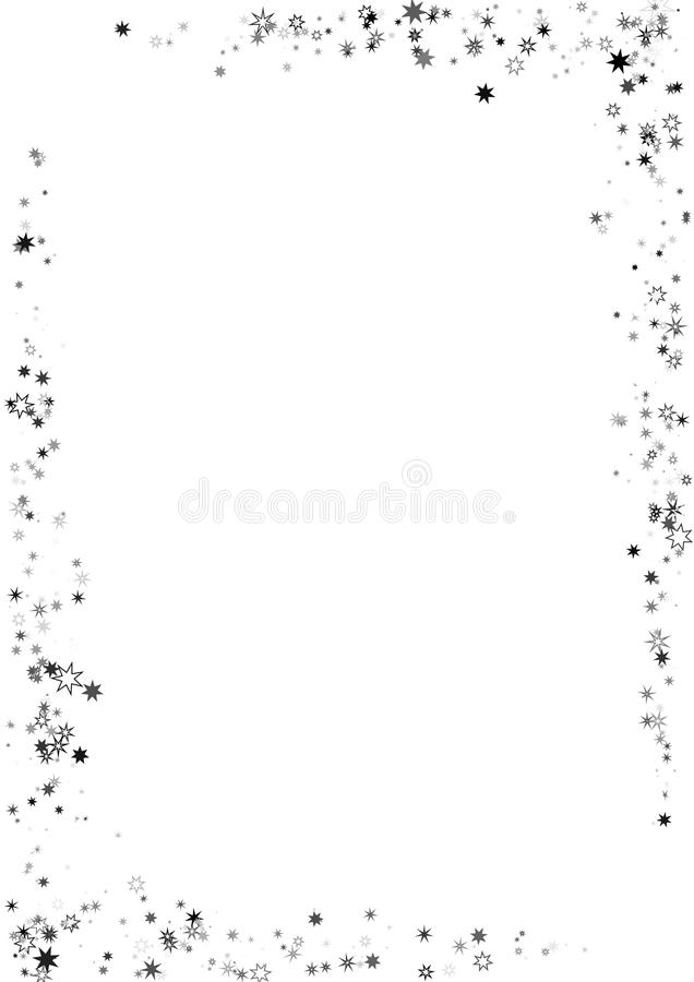 Abstract Frame Made Of Stars On White Background A4 Paper