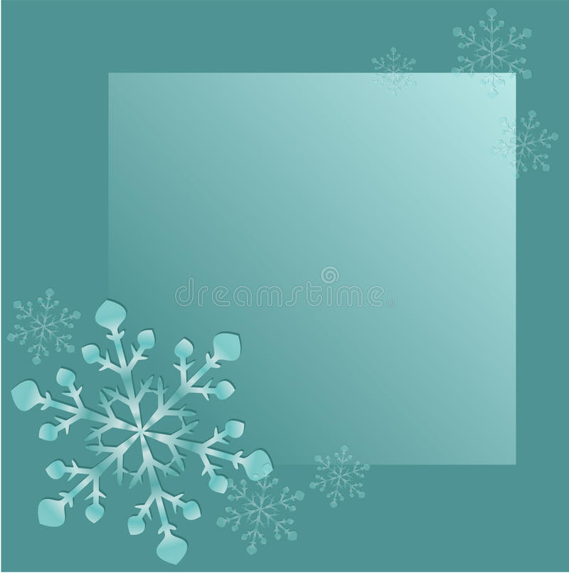Abstract frame with snowflakes vector illustration