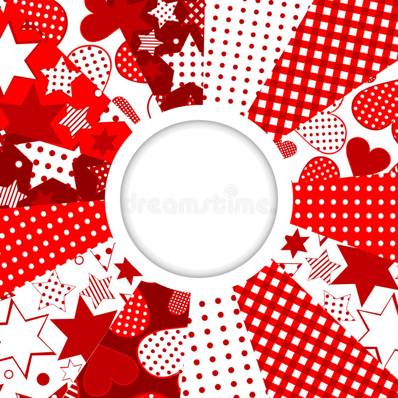 Download Abstract Frame With Stars And Hearts Stock Vector - Illustration of seamless, ornament: 29794689