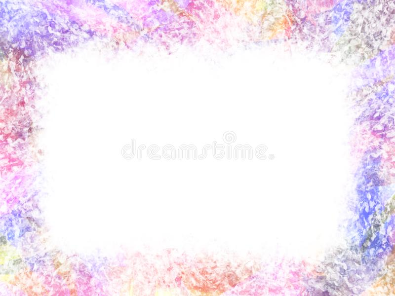 Abstract frame with watercolor paper style. vector illustration