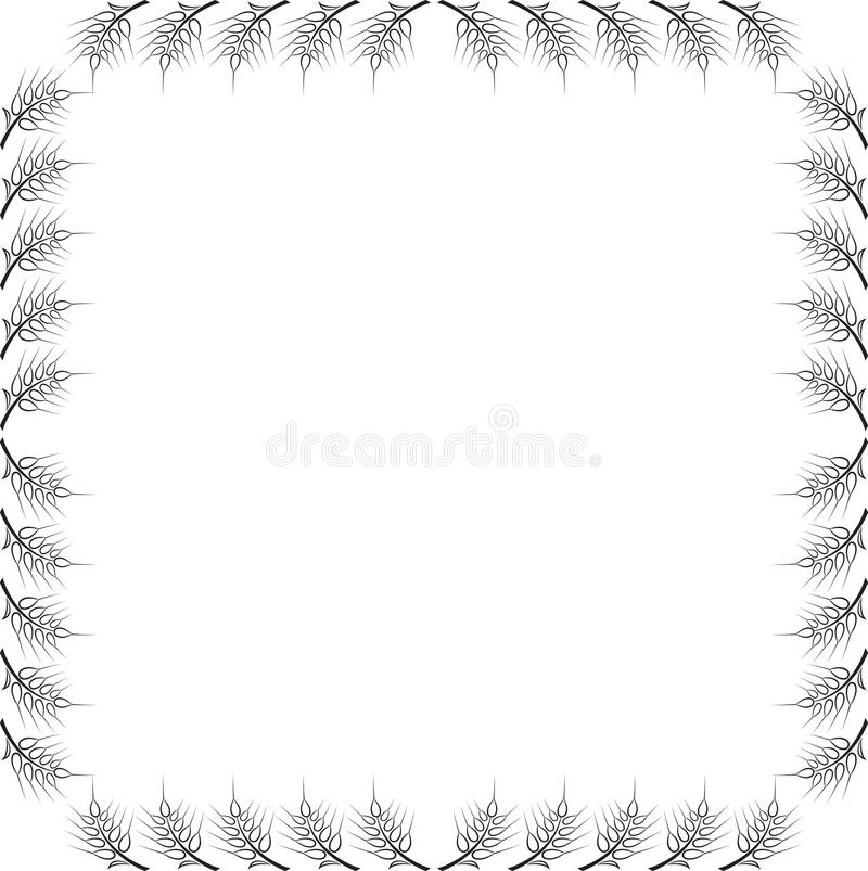 Download Abstract frame with wheat stock vector. Illustration of nature - 28517246