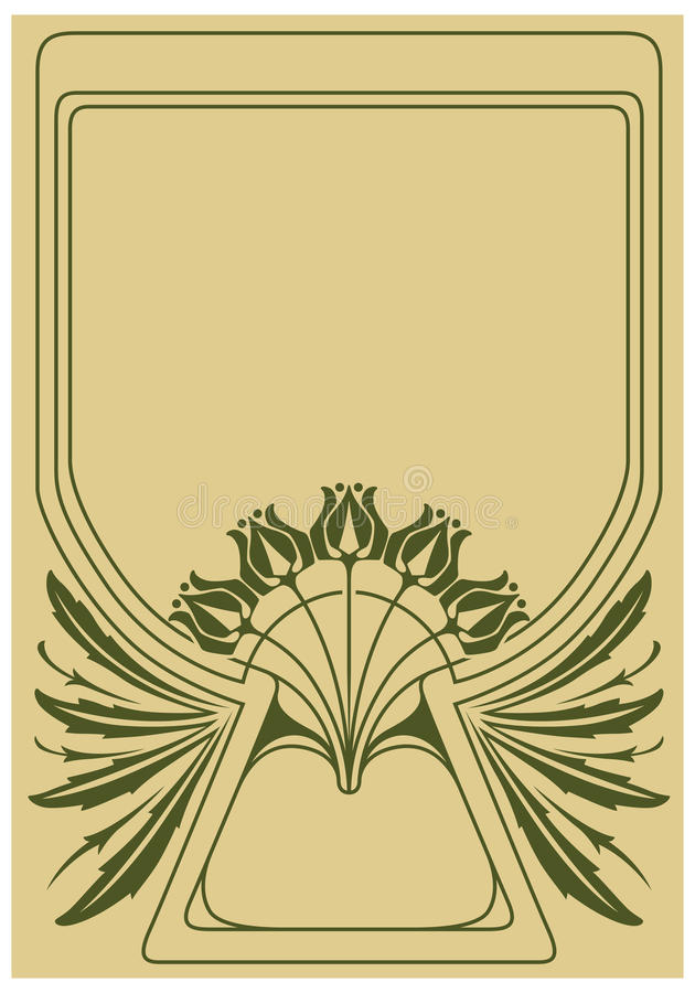 Abstract framework. From the bound plants in style art-nouveau royalty free illustration