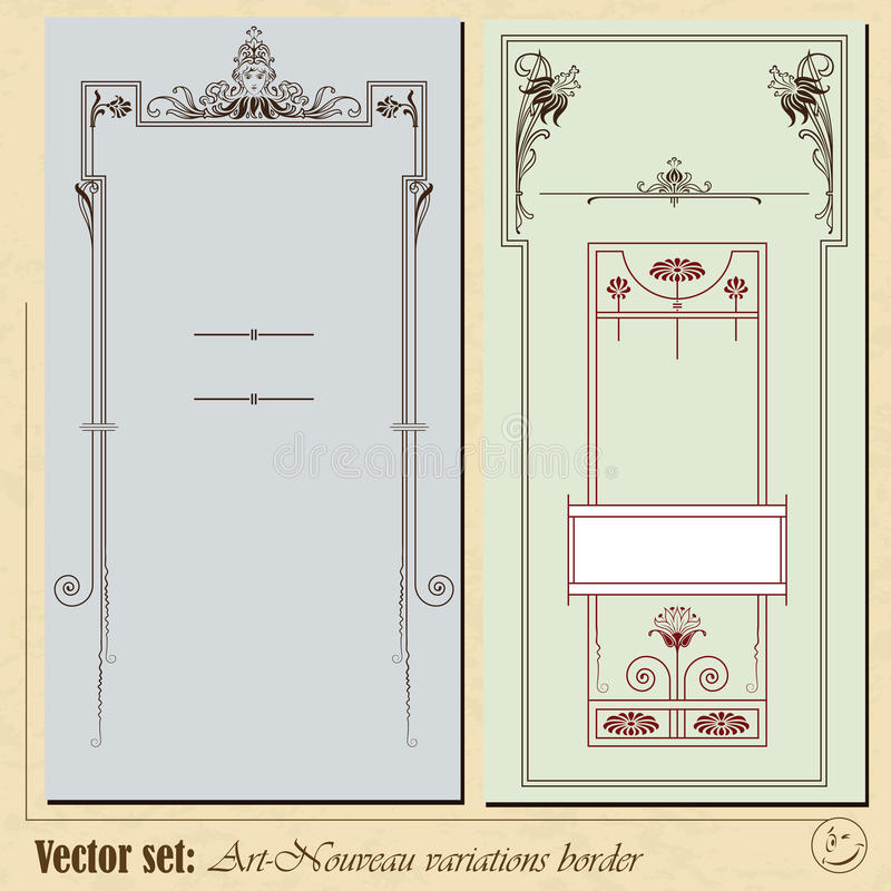 Abstract framework. From the plants in style art-nouveau vector illustration